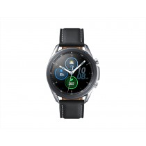 Samsung Galaxy Watch3 Smartwatch Bluetooth, cassa 45mm acciaio, cinturino pelle, Saturimetro, Rilevamento cadute, Monitoraggio sport, 53,8g, Batteria 340 mAh, IP68, Mystic Silver