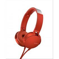 Sony MDR-XB550AP Padiglione auricolare Stereofonico Cablato Rosso auricolare per telefono cellulare